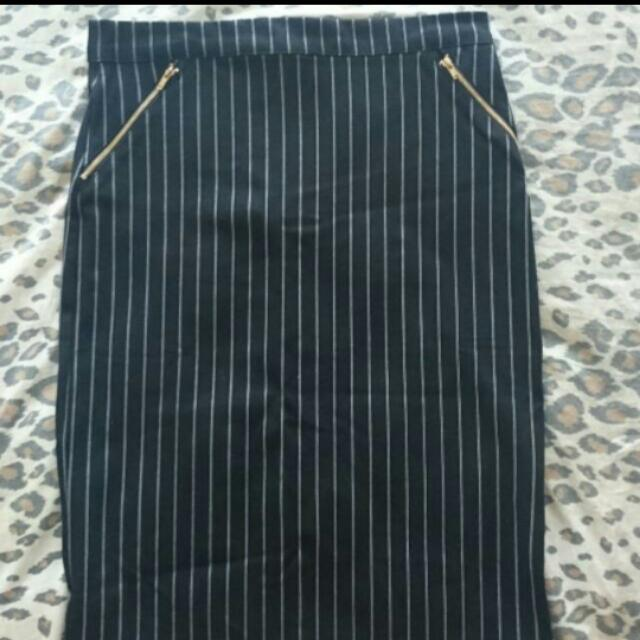 Stripy Skirt Size L