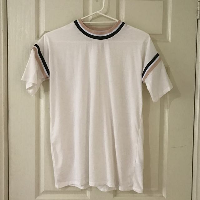 ASOS T-Shirt With Stripe Tipping