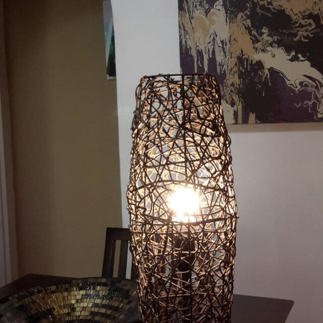 Balinese lamp Rattan wicker Brown