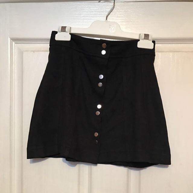 Bardot Suede Leather Skirt
