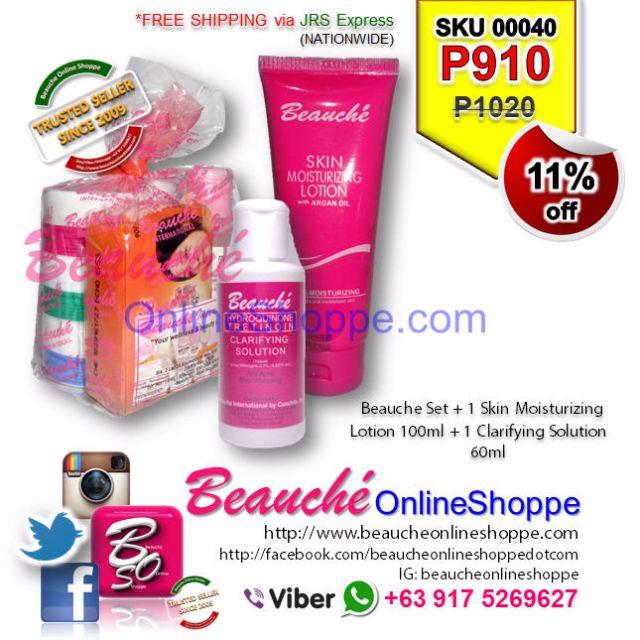 Beauche Set + 1 Skin Moisturizing Lotion 100ml + 1 Clarifying Solution 60ml (SKU 00040)