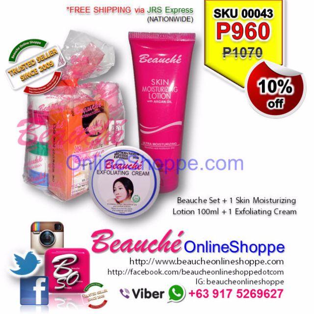 Beauche Set + 1 Skin Moisturizing Lotion 100ml + 1 Exfoliating Cream Cream (SKU 00043)