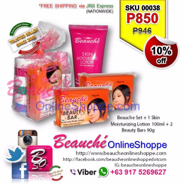 Beauche Set + 1 Skin Moisturizing Lotion 100ml + 2 Beauty Bars 90g (SKU 00038)
