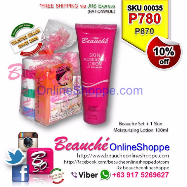 Beauche Set + 1 Skin Moisturizing Lotion 100ml (SKU 00035)