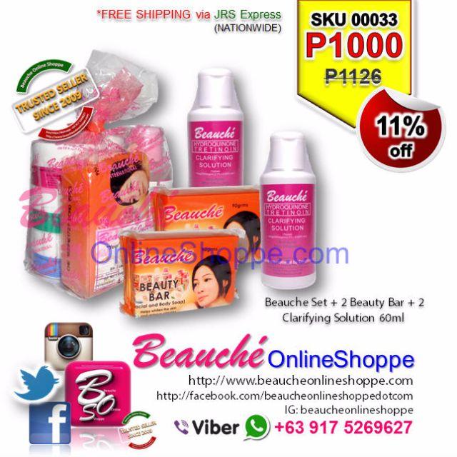 Beauche Set + 2 Beauty Bar + 2 Clarifying Solution 60ml (SKU 00033)