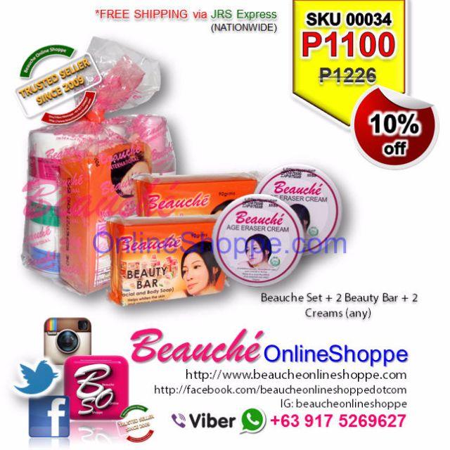 Beauche Set + 2 Beauty Bar + 2 Creams (any) (SKU 00034)