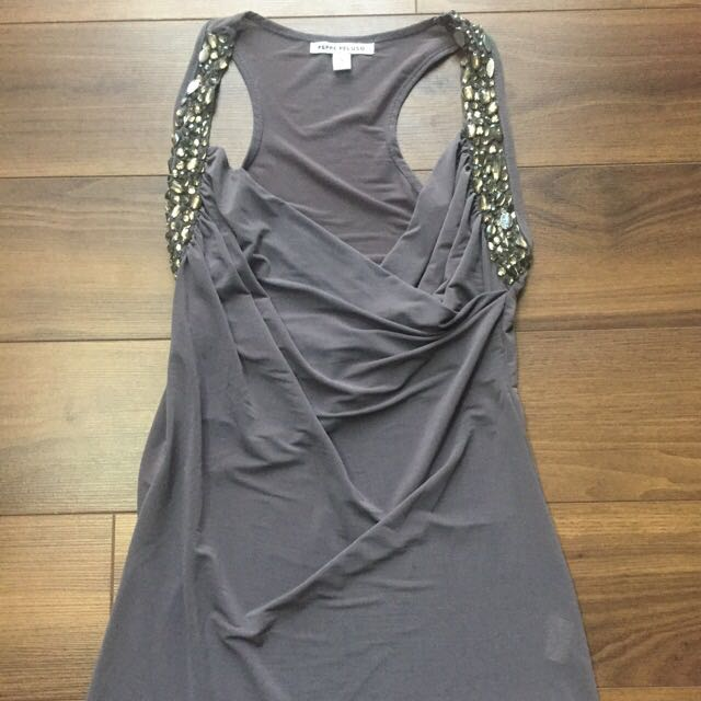 Bejewelled Slinky Top Size Small