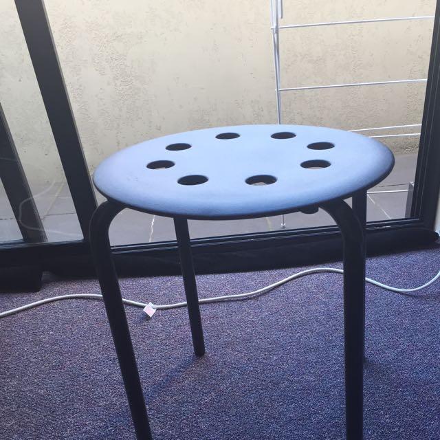 "Black Stool ""Marius"" from Ikea"