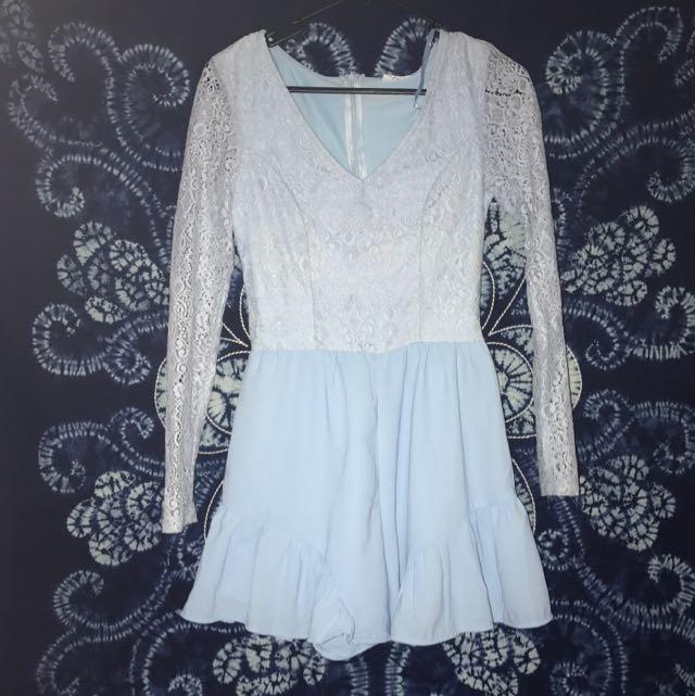 Blue Lace Play suit