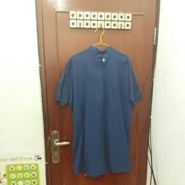 Blus Tunik Blue Navy