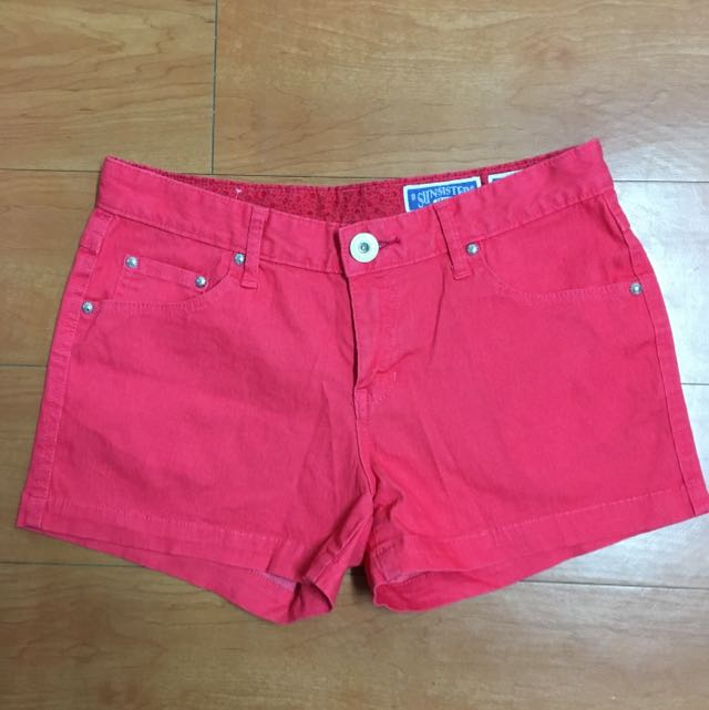 Bobson-sunsister 橘紅色彈性短褲