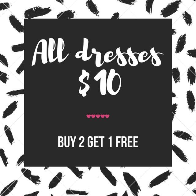 Buy 2 Get 1 Free Dressss