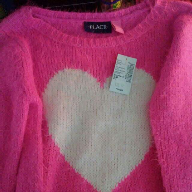 Children's Place Size 5/6 Pink Sweater Very Soft And Warm
