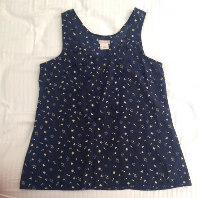 Cute Tank With Bib Detail