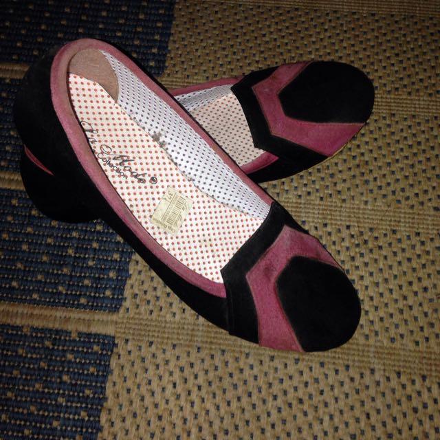 Flatshoes Black Pink