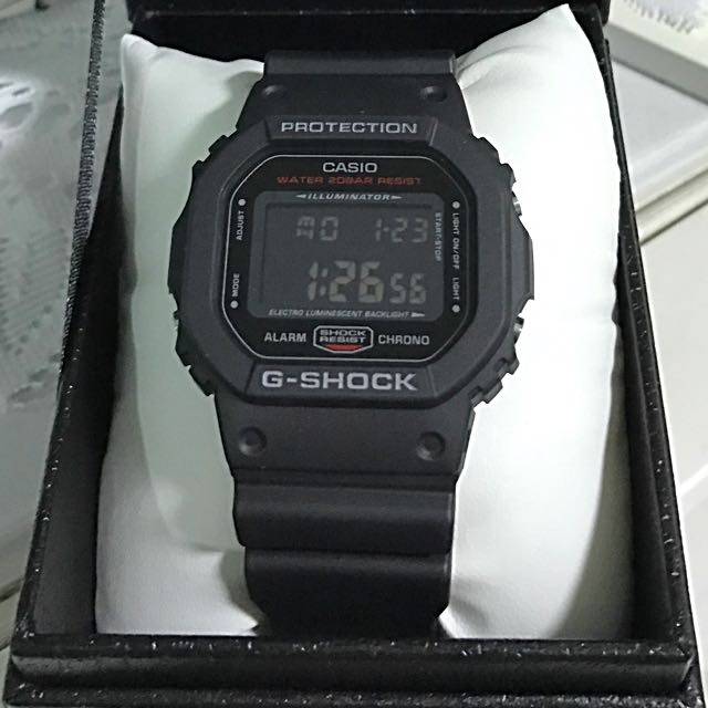 G Shock Square Face Dw 5600hr Men S Fashion Watches On Carousell