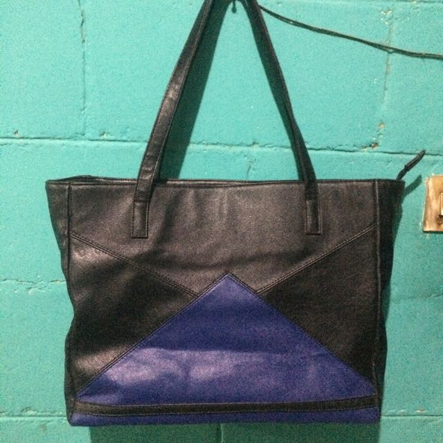 GAUDI SHOPPER BAG (BLACK AND BLUE)