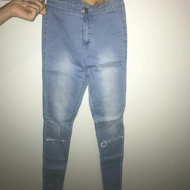Hihh Waisted Ripped Jean's