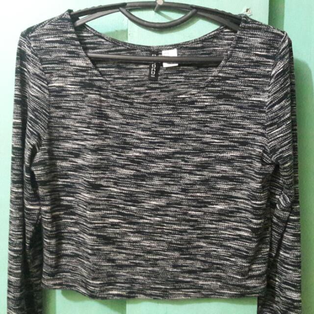 H&M Long Sleeve Crop Top