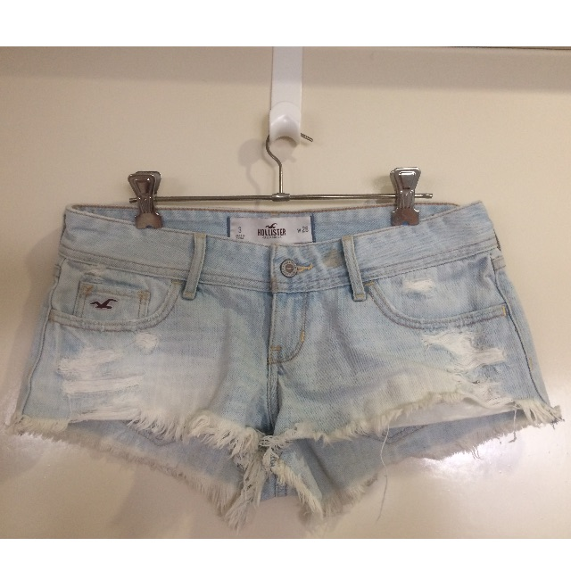 Hollister ripped denim shorts