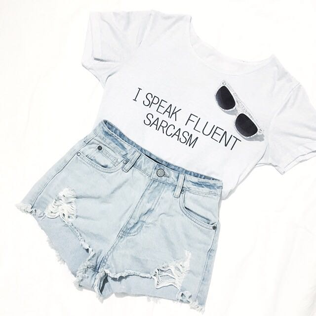 """I Speak Fluent Sarcasm"" Shirt"