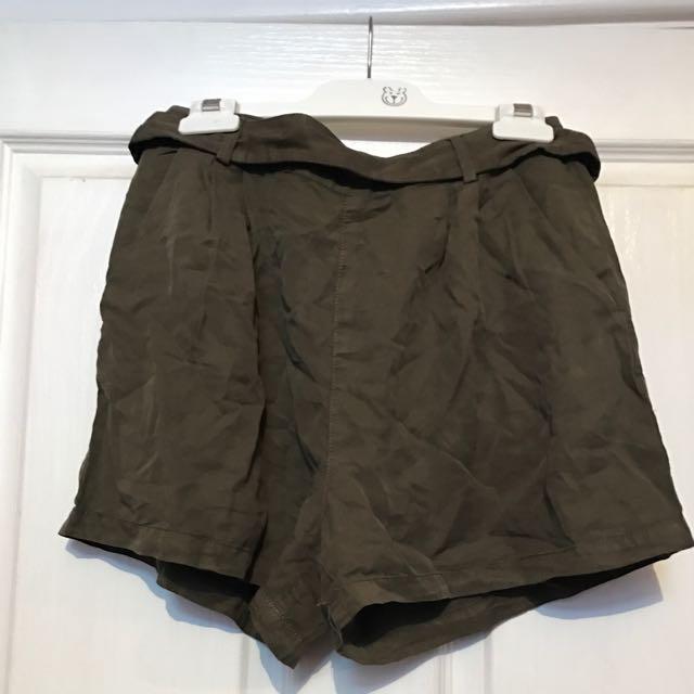 Khaki Supre Shorts