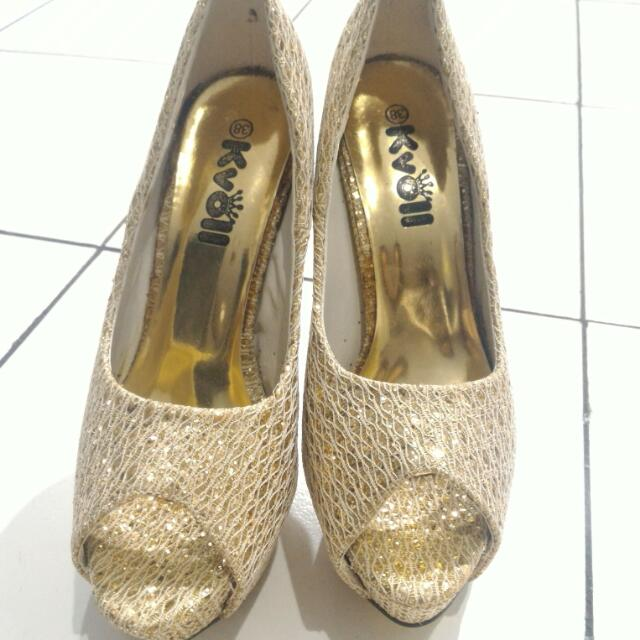 Korean Brand Gold High Heels