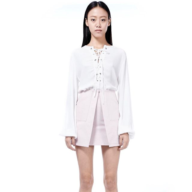Laced-up Blouse