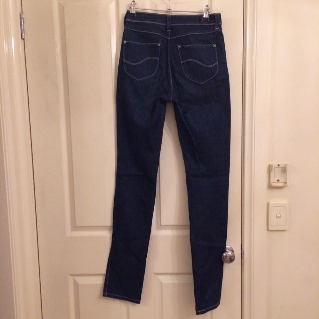 Lee Blue Denim High Tube Jeans