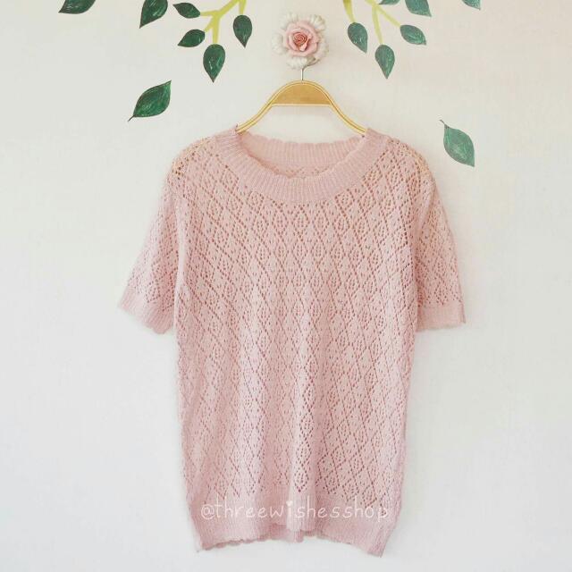 Light Pink Knit Top
