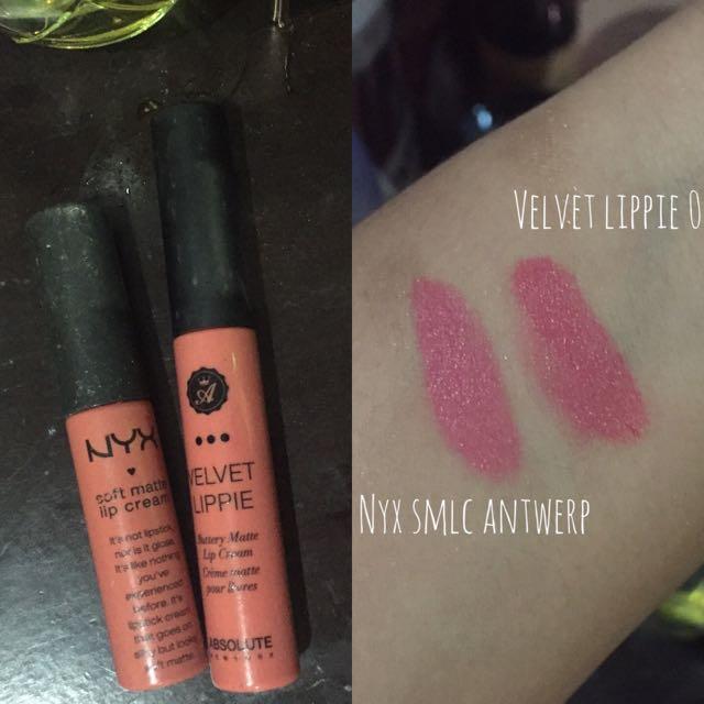 Lip Cream Velvet Lippie Nyx Antwerp Dupe