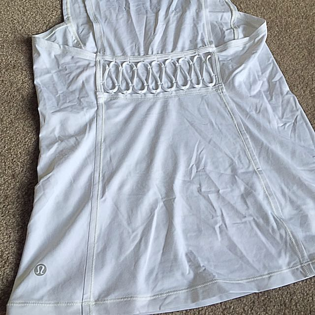 Lululemon White Loose-Fit Singlet