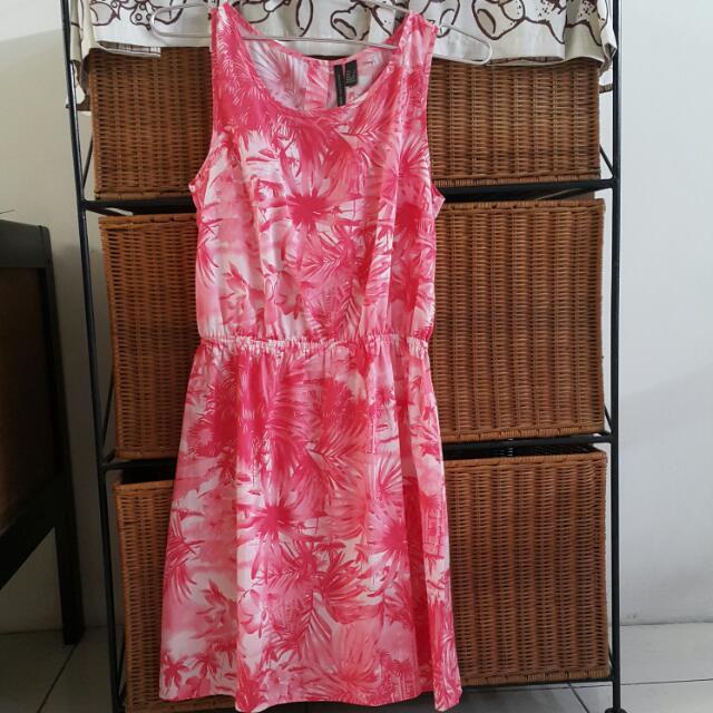 Mango Abstract Pink Dress
