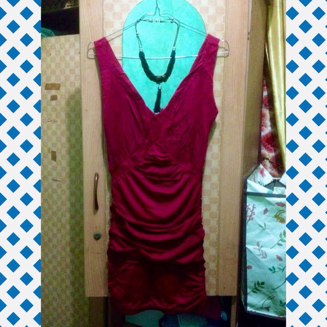 Maroon Bodycon