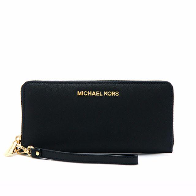 05cfbf0cb054 Michael Kors - Jet Set Travel Leather Continental Wristlet, Luxury ...