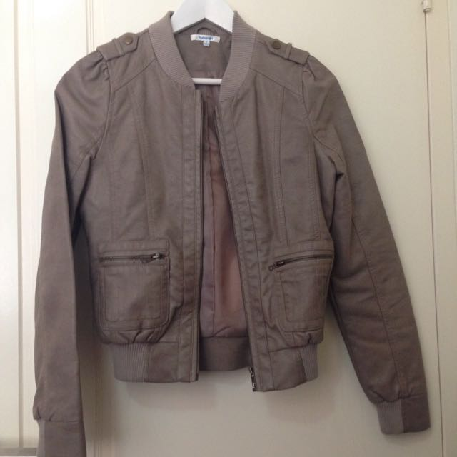 Mocha Leather Jacket