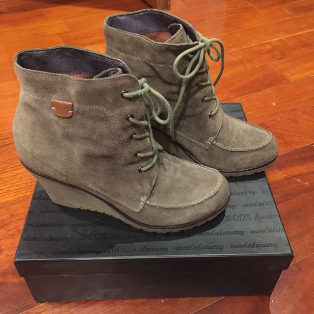 MODA牛皮短靴