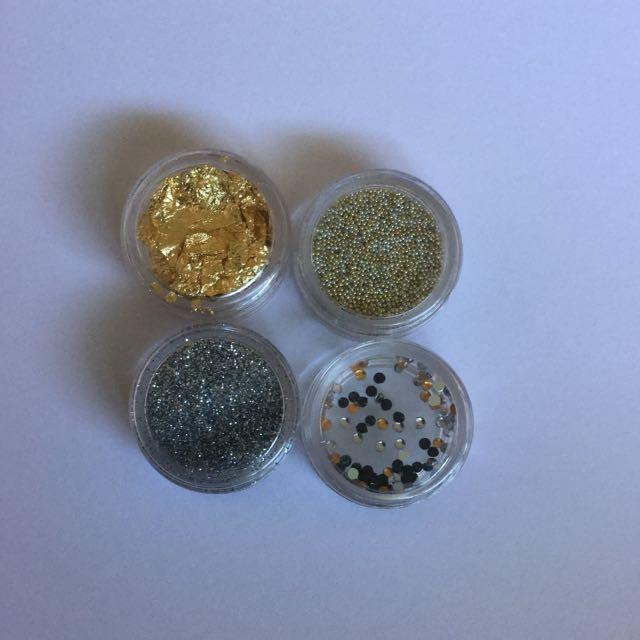 Nail Art Glitter Gold/ Silver