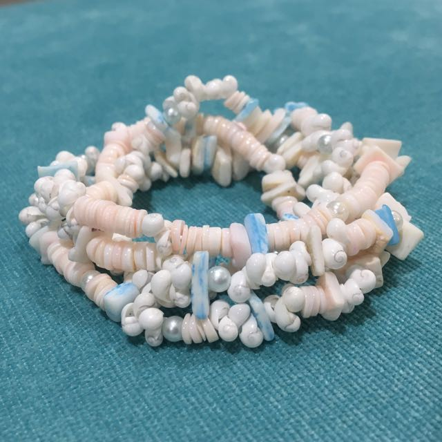 Pearly Shells Combo (necklace/bracelet)