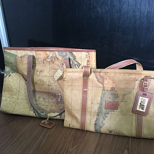 Pre loved italy tclasse hand bags map bag womens fashion bags photo photo photo gumiabroncs Choice Image