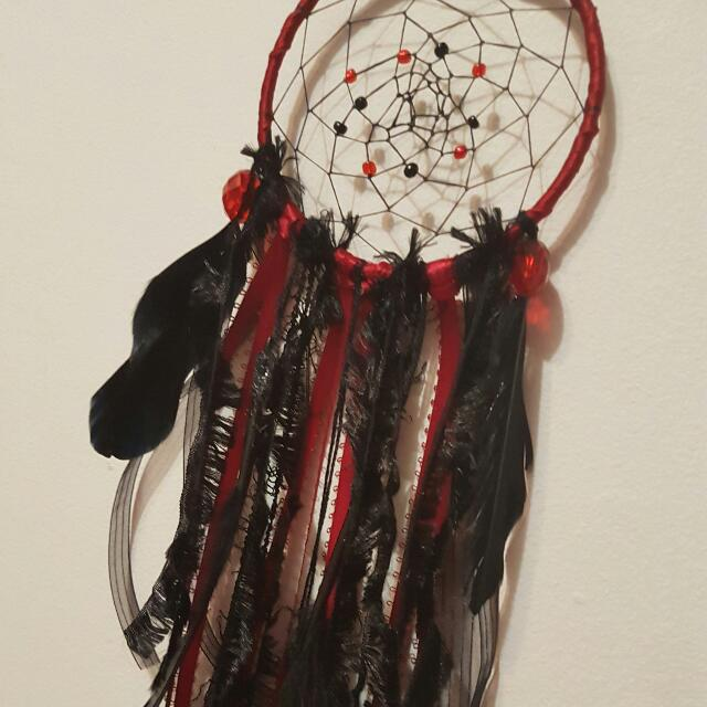 Red And Black Dreamcatcher