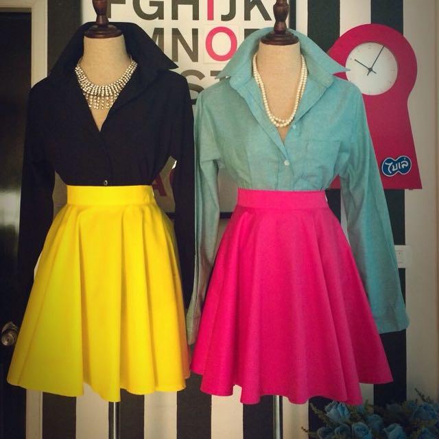 rok tutu premium warna pink