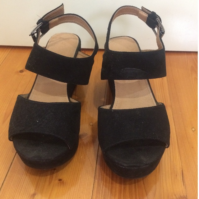 rubi chunky black sandals