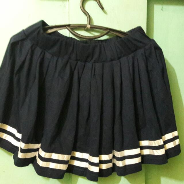 Sailor Navy Blue Skirt