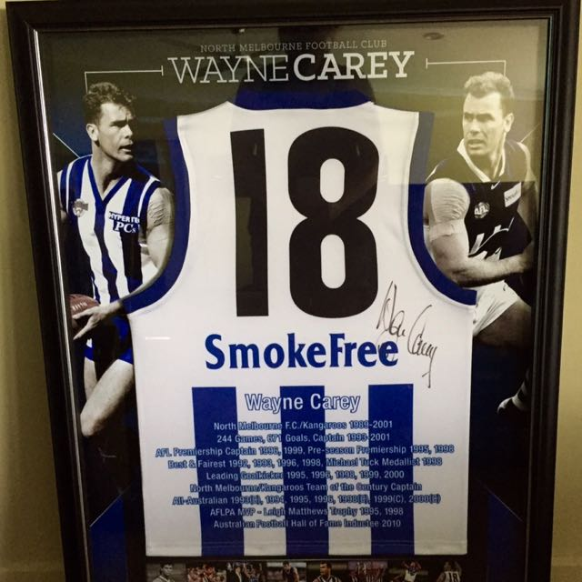 Signed Wayne Carey Football Jumper
