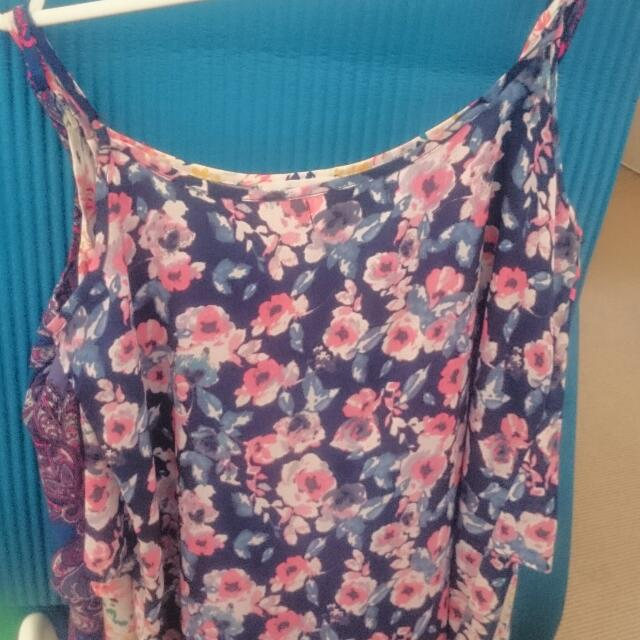 Sleeveless Loose Floral Top
