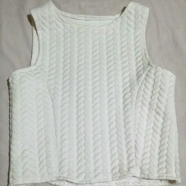 Small White Crop Top