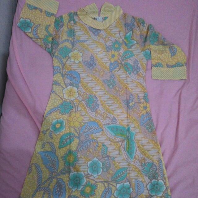 Tunik Batik Solo Kuning