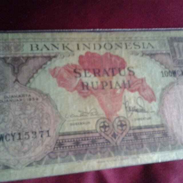 uang 100rupiah th.1959