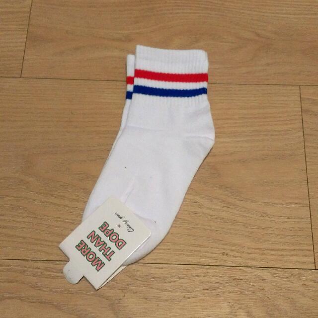 韓國ulzzang條紋中長襪